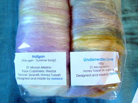 My two colorways: Hafgan and Underwater Love