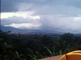 Stormy dinner view.