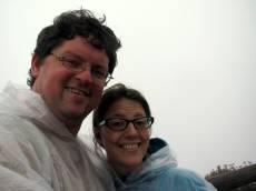 Wet volcano selfie!