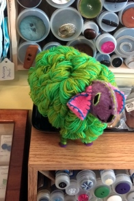 Cutest neon sheep ever.