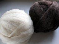 Undyed Romney wool