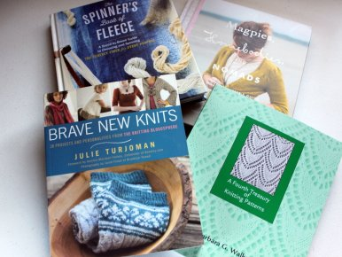 New spinning and knitting books!