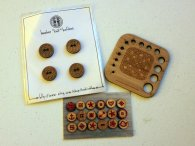Laser-cut buttons & gauge.