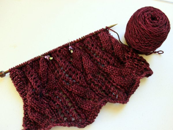 WIPWed #78: Cables and Lace | Woolen Diversions