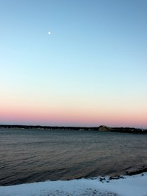Moon over Narragansett Bay.