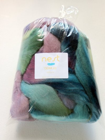 Nest fiber Falkland, one-of-a-kind colorway.