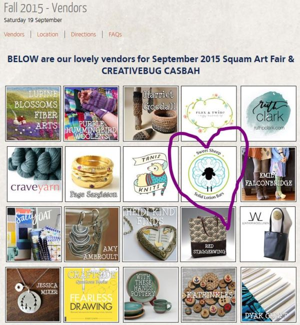 Squam art fair vendors