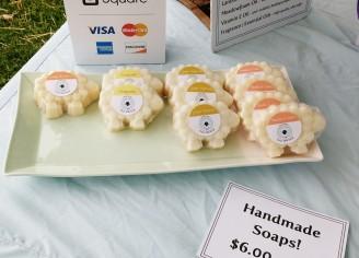 Sheep-shaped soaps!
