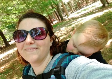 Carrier nap while camping.