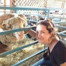 Katy + sheep = happiness.